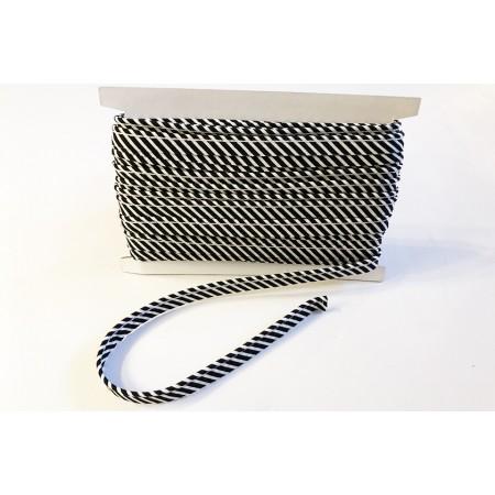 Paspelband Streifen schwarz