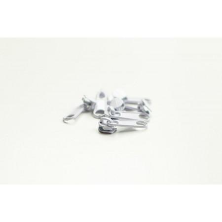 Reißverschluss Schieber Spirale 3 mm weiß