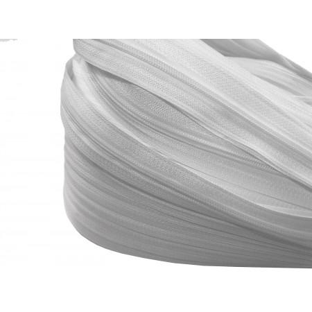 Endlosreißverschluss 3 mm weiß
