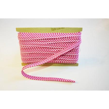 Paspelband Streifen pink