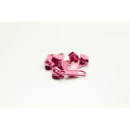 Reißverschluss Schieber Spirale 3 mm rosa