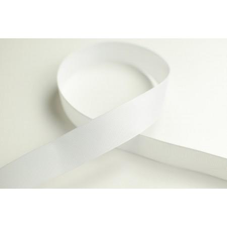 Ripsband 25mm weiß