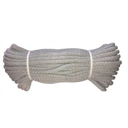 Baumwoll Kordel rund 10 mm grau