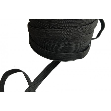 Gummiband schwarz 10 mm