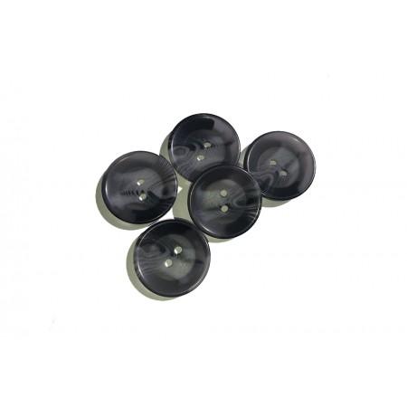 Gummiband 50 mm - glitzer blau