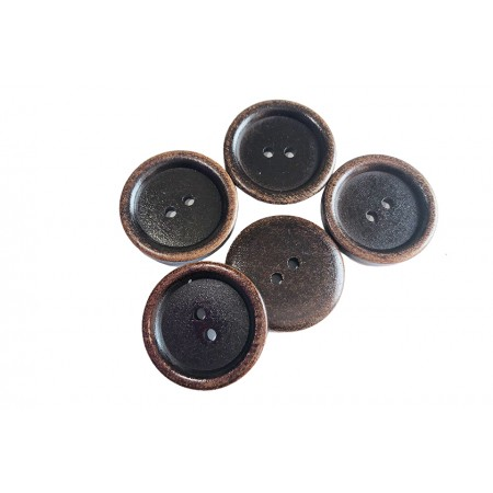Holzknopf braun 30 mm