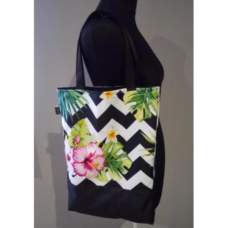 Einkaufstasche Tropisch Zickzack